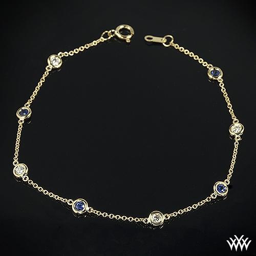 Color Me Mine Diamond and Sapphire Bracelet