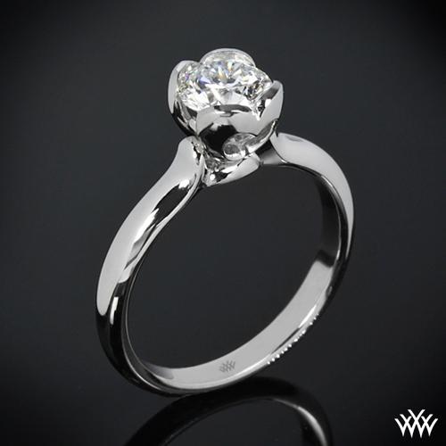Corazon Half Round Solitaire Engagement Ring