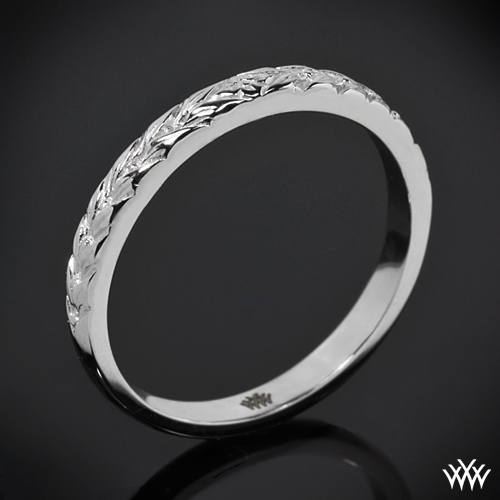 Engraved Cathedral Wedding Ring