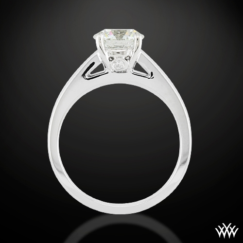 'Flush-Fit' Cathedral Style Diamond Ring