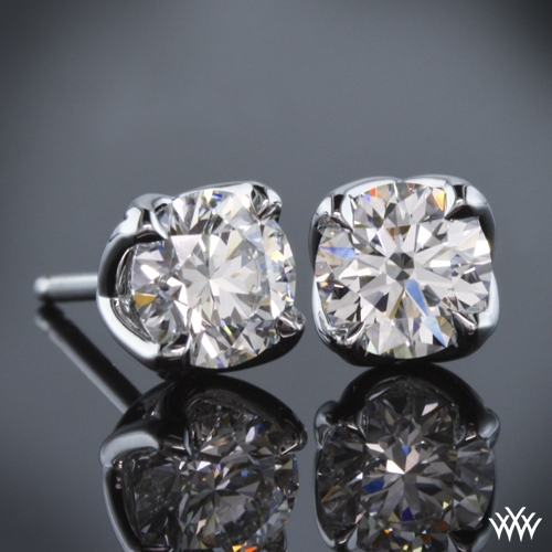 """W-Prong"" Diamond Earrings"