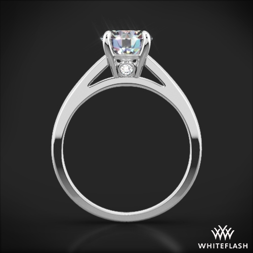 Flush Fit Cathedral Style Diamond Ring 2