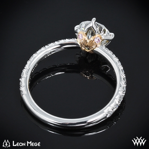 back view ring - Lotus Wedding Ring