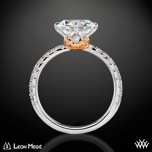 ring side view - Lotus Wedding Ring