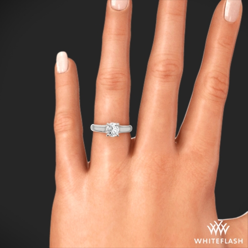 XProng Trellis Solitaire Engagement Ring 1197