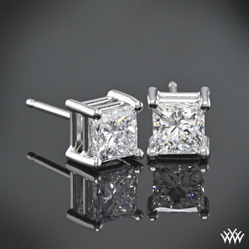 4 Prong Princess Earrings