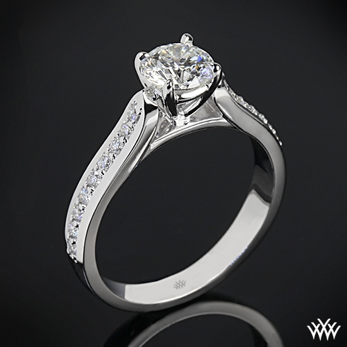 """Cathedral Pave"" Diamond Engagement Ring"