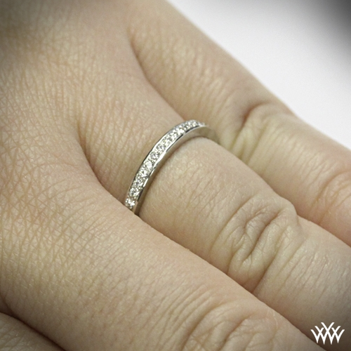Bead Set Eternity Diamond Wedding Band
