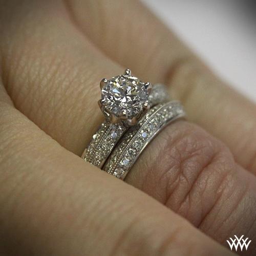 Quot Knife Edge Pave Quot Diamond Wedding Set 1502