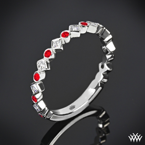 Krysty Diamond and Ruby Right Hand Ring