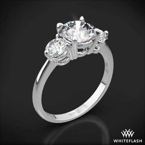 Trois Brilliant Three Stone Engagement Ring