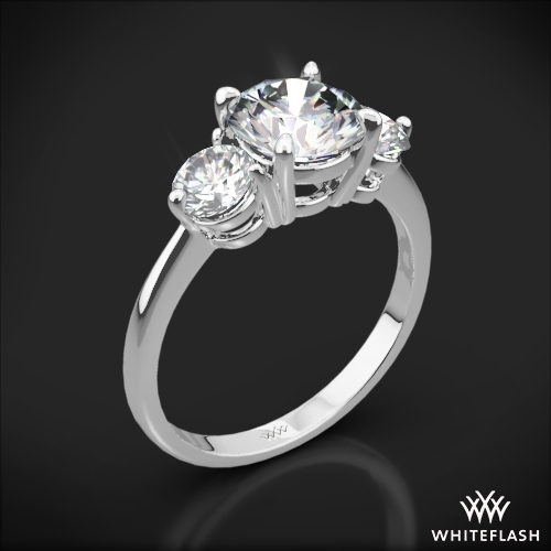 Trois Brilliant Three Stone Engagement Ring