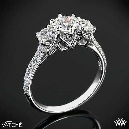 "Vatche 324 ""Swan"" 3 Stone Engagement Ring"