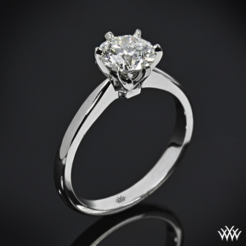 contemporary classic solitaire engagement ring 7 real photo - Solitaire Wedding Rings