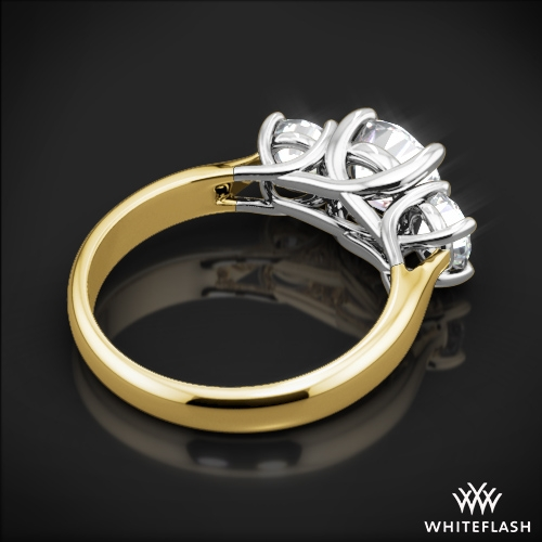 stone trellis engagement ring enlarge to five click tapered rings