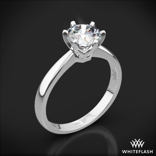 Contemporary Classic Solitaire Engagement Ring 1