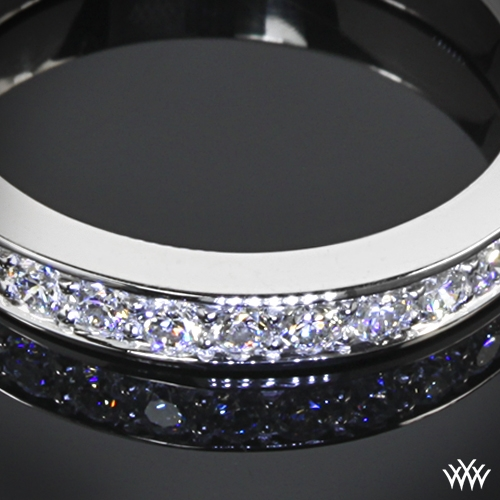 tiffany style BeadSet Diamond Wedding Band 1372