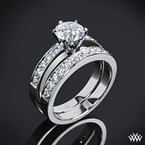 """Bead-Set"" Diamond Wedding Set"