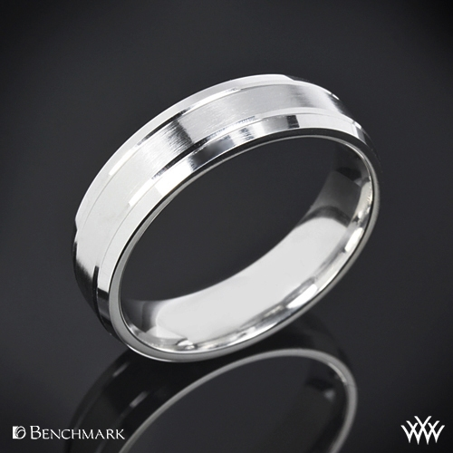 Benchmark Carved Satin Wedding Ring