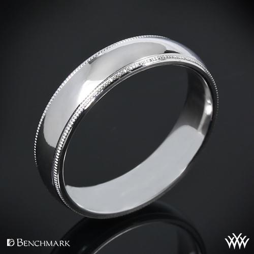 Benchmark Comfort Fit Wedding Ring with Milgrain
