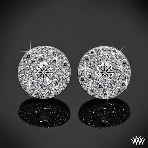 Brilliance Double Halo Diamond Earrings