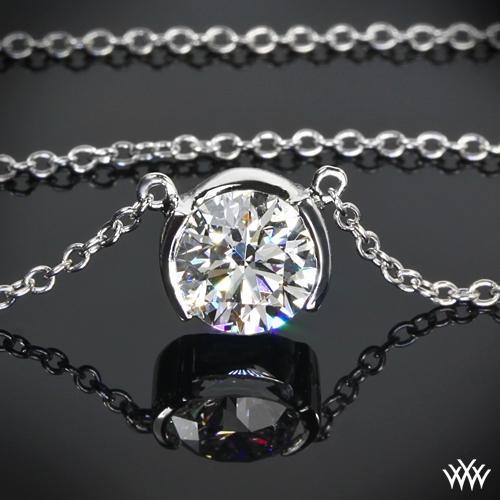 Half-Bezel Diamond Pendant