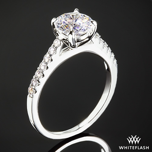 """Petite Open Cathedral"" Diamond Engagement Ring"