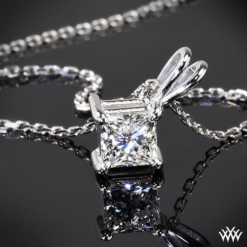 4 Prong Princess Diamond Pendant