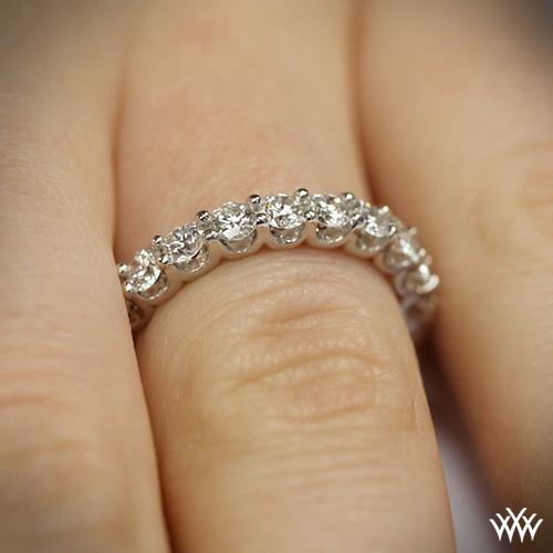 Annette S U Prong Three Quarter Eternity Diamond Wedding