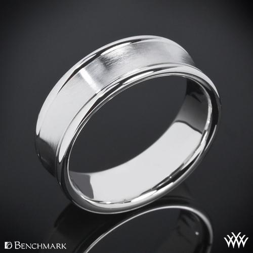 Benchmark Concave Satin Wedding Ring