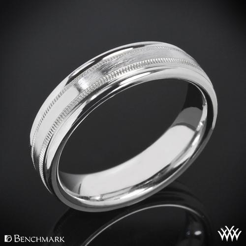 Benchmark Dual Milgrain Wedding Ring