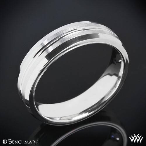 Benchmark Halved Satin Wedding Ring