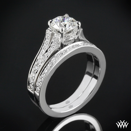 """Divisi"" Diamond Wedding Set"