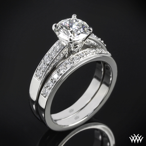 """Flush-Fit"" Diamond Wedding Set"