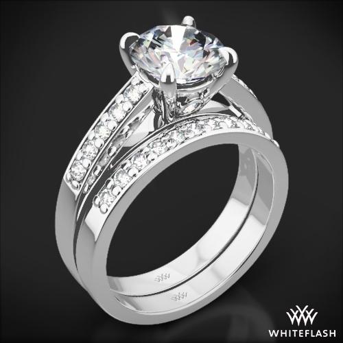 Flush-Fit Diamond Wedding Set