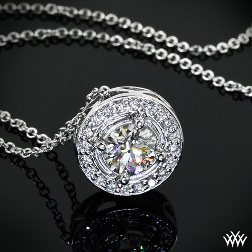 Halo Prong Diamond Pendant
