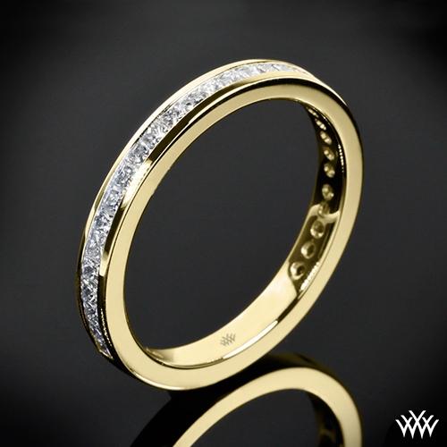 Honey Princess Channel-Set Diamond Wedding Ring