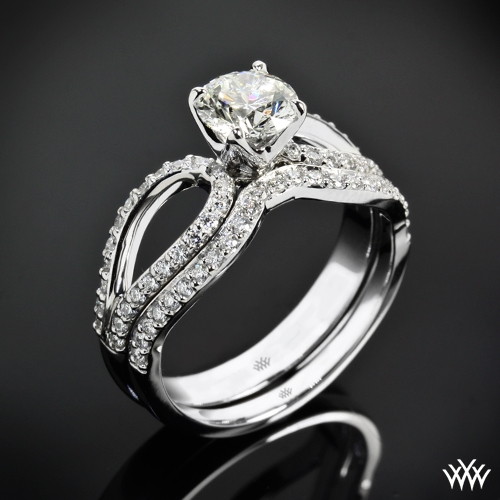 """Infinity"" Diamond Wedding Set"