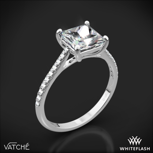 Vatche 1517 'Aurora' Diamond Engagement Ring for Princess Cut Diamonds