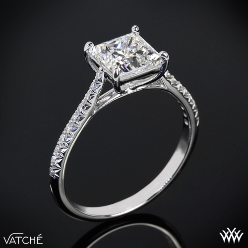 Vatche 'Aurora' Diamond Engagement Ring for Princess Cut Diamonds