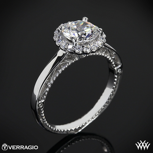 Verragio AFN-5019R Rounded Halo Solitaire Engagement Ring