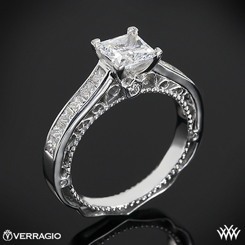 Verragio Princess Channel-Set Diamond Engagement Ring