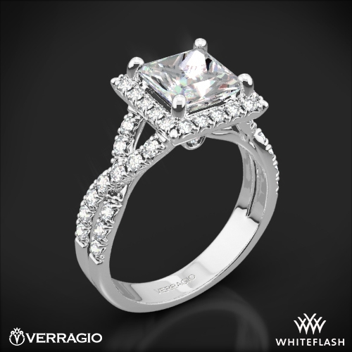 square diamond wedding rings verragio square halo engagement ring 1806 7644
