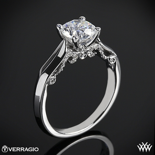 Verragio 4 Prong Knife Edge Solitaire Engagement Ring 1838