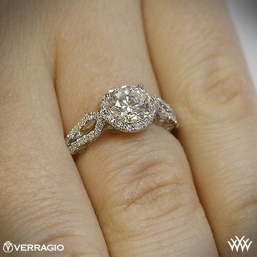 Verragio 4 Prong Round Halo Diamond Engagement Ring