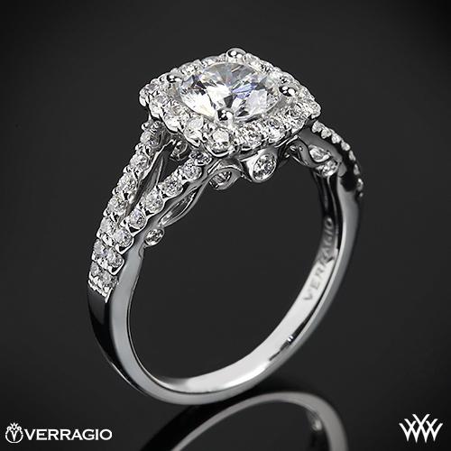 Verragio INS-7046 Split Shank Shared-Prong Diamond Engagement Ring