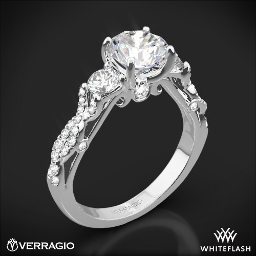 Verragio INS-7055R Twisted Shank Three Stone Engagement Ring