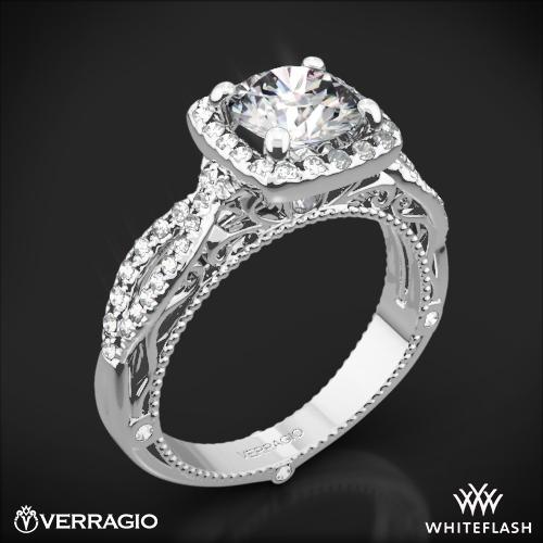 Verragio AFN-5005CU-2 4 Prong Cushion Halo Diamond Engagement Ring