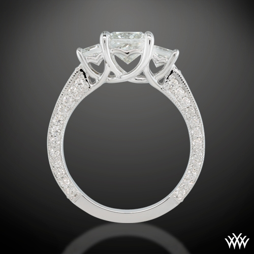 ring side view - Princess Wedding Rings
