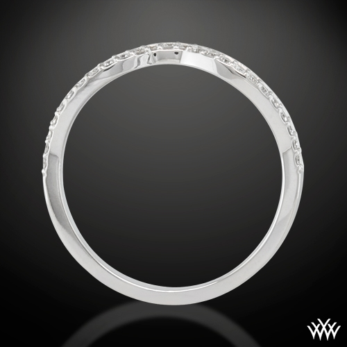 Infinity Diamond Wedding Ring 7 Real Photo Zoomed View Back Side